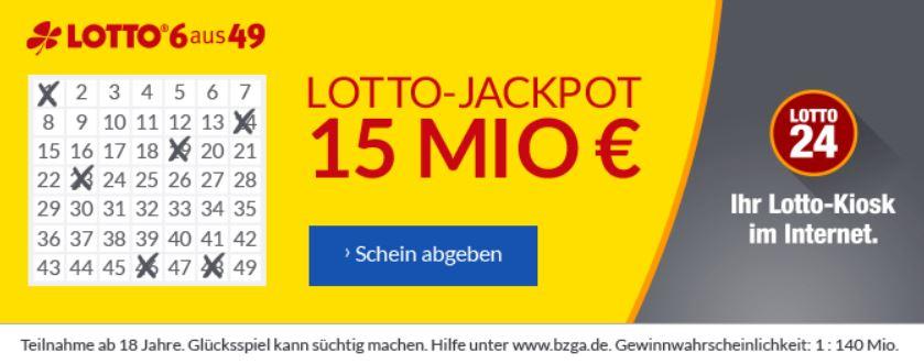 15 MIO Lotto 6aus49