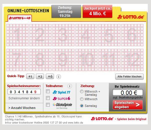 lotto.de lotto.de online spielen beim original