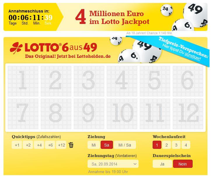 Lotto Spielen Online Lottoschein
