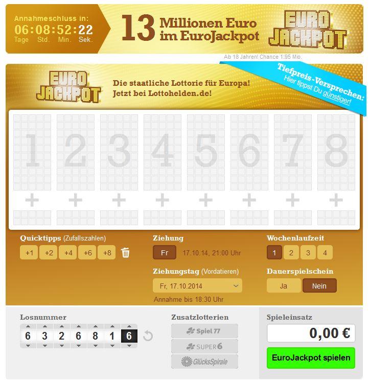 euro jackpot gewinnchance