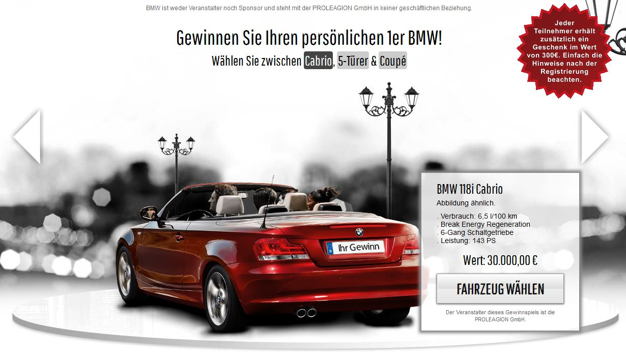 gewinnspiel 1er bmw gewinnen cabrio 5 t rer coup. Black Bedroom Furniture Sets. Home Design Ideas