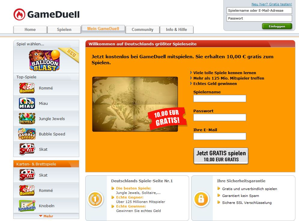Gameduell Online Games