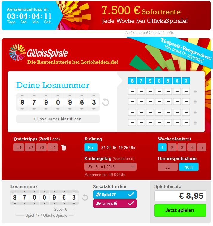 Gluckspirale Lotto