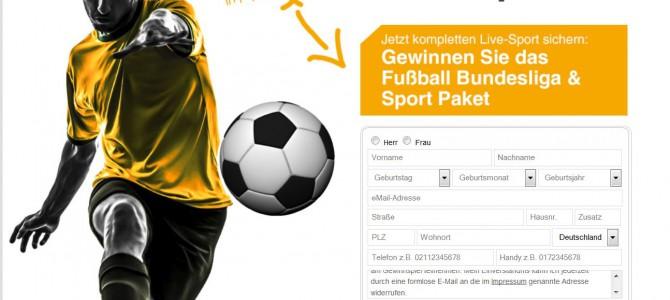 Gewinnen Sie das Fußball Bundesliga und Sport Paket