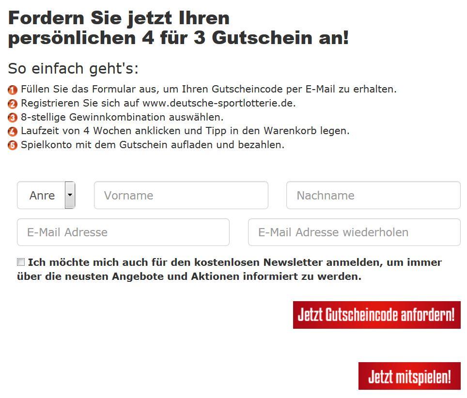 Deutsche Sportlotterie Gutschein
