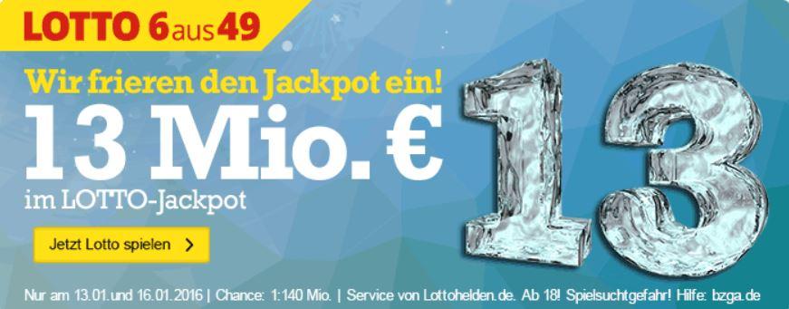 13 MIO Jackpot