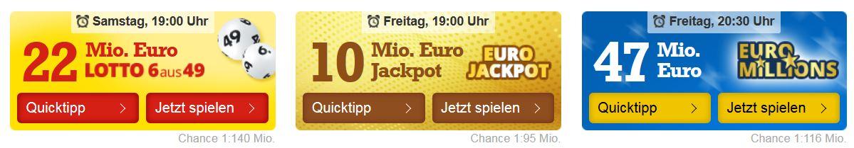 22 Mio euro LottoJackpot
