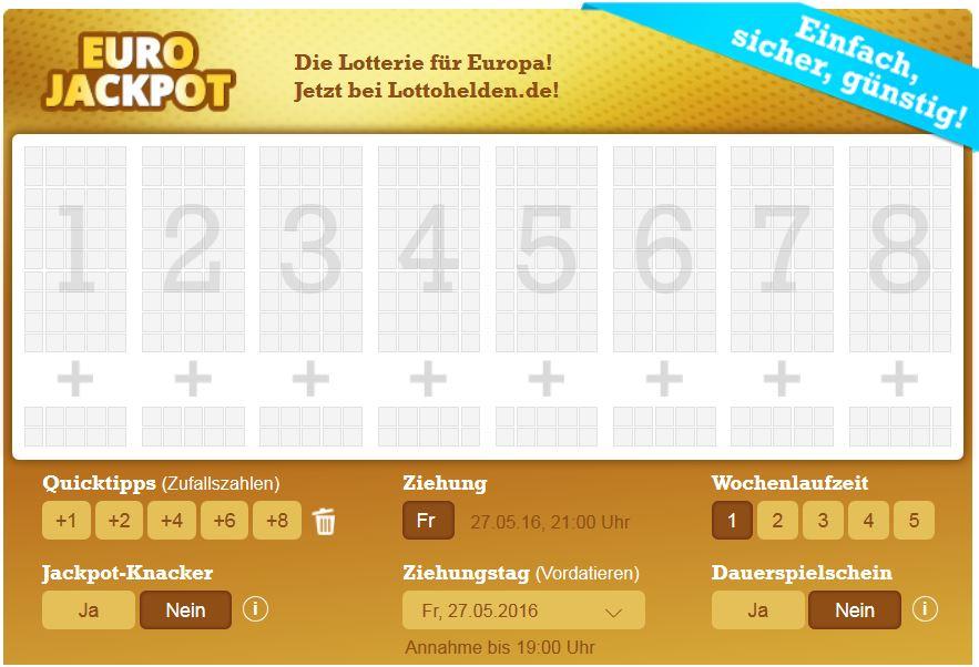Eurojackpot Lottoschein