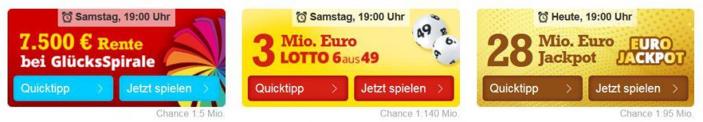 Aktuelle Lotto Jackpots